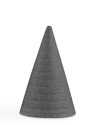Glasurkegel Speckled Grey, GR34 - Höhe 110 mm von Kähler Design