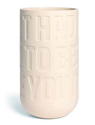 Love Song Vase - Kreide von Kähler Design