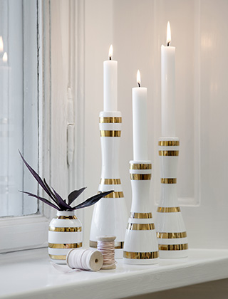 Wohnaccessoires silber  Kähler Design Omaggio Christmas Edition Gold & Silber | elbdal.de ...