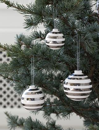 Christbaumkugeln Weiß Gold.Stark Reduziert Kähler Design Omaggio Christmas Edition Gold