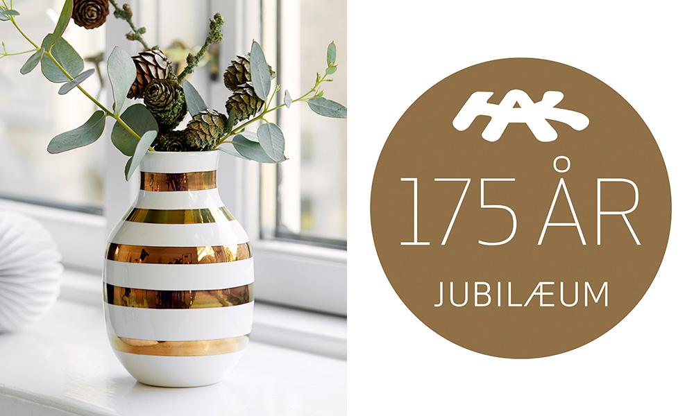 Sidste nye Kähler Design Omaggio Jubiläumsvase | elbdal.de | Skandinavische VO-47
