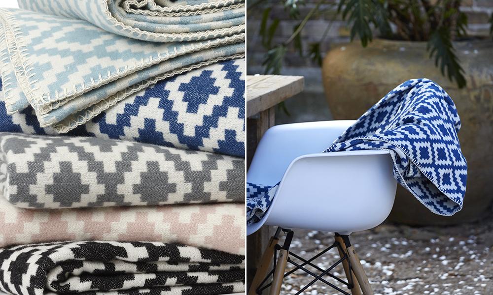 diamonds baumwolldecken von klippan skandinavische wohnaccessoires. Black Bedroom Furniture Sets. Home Design Ideas