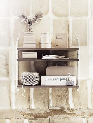 string regal pocket nussbaum skandinavische wohnaccessoires. Black Bedroom Furniture Sets. Home Design Ideas