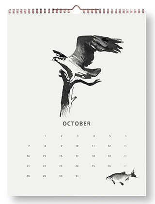 Teemu Järvi Illustrations - Wandkalender 2019 - October