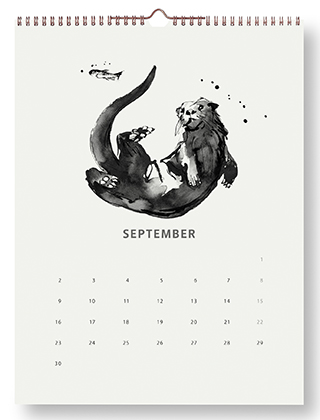 Teemu Järvi Illustrations - Wandkalender 2019 - September