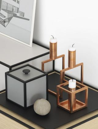 by lassen kubus kerzenst nder skandinavische. Black Bedroom Furniture Sets. Home Design Ideas