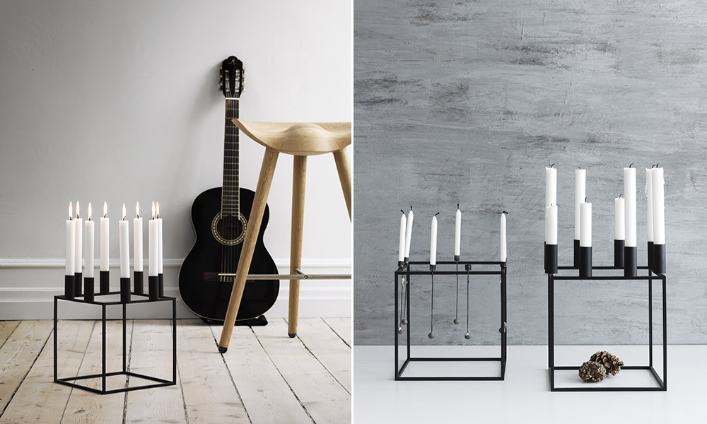 by lassen kubus by lassen kubus 4 candleholder white by lassen kubus by lassen kubus 8 lys. Black Bedroom Furniture Sets. Home Design Ideas